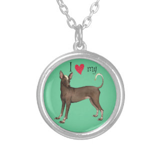 I Love my Xolo Silver Plated Necklace