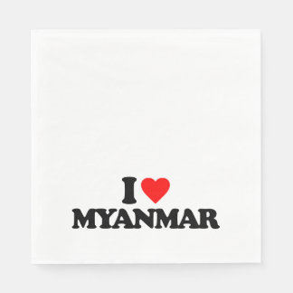 I LOVE MYANMAR DISPOSABLE NAPKIN