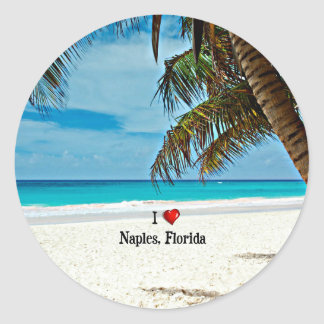 I Love Naples, Florida Classic Round Sticker