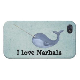 I love Narwhals Case For The iPhone 4