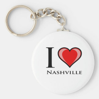 I Love Nashville Key Ring
