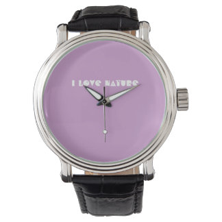 I love Nature wrist watch