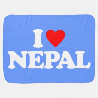 I LOVE NEPAL BABY BLANKET
