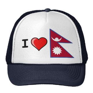 I LOVE NEPAL BASEBALL CAP