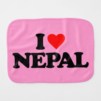 I LOVE NEPAL BABY BURP CLOTH