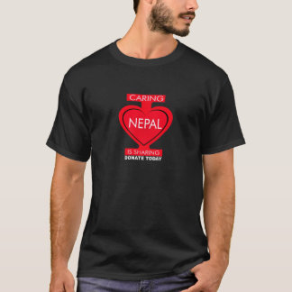 I Love Nepal | Caring is Sharing | Donate T-Shirt