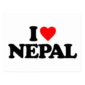 I LOVE NEPAL POSTCARD