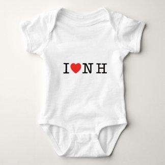 I LOVE New Hampshire Baby Bodysuit