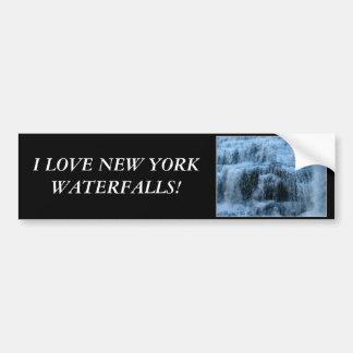 I love New York waterfalls, New York! Car Bumper Sticker