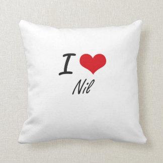 I Love Nil Throw Cushions