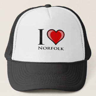 I Love Norfolk Trucker Hat