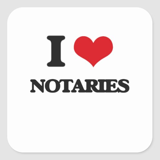 I love Notaries Stickers