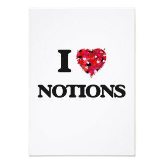 I Love Notions 13 Cm X 18 Cm Invitation Card