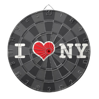 I Love NY Charcoal Gray Dartboard