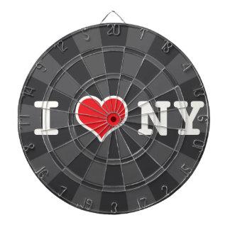 I Love NY Charcoal Gray Dartboards