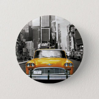 I Love NYC - New York Taxi 6 Cm Round Badge