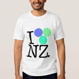 I Love NZ blue Tee Shirts