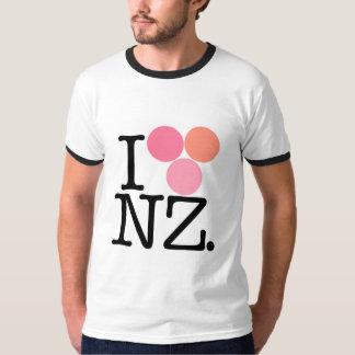 I love NZ pink Ringer Tee Unisex