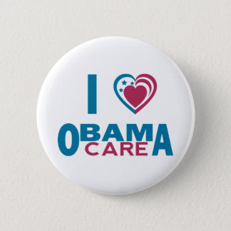I Love ObamaCare 6 Cm Round Badge
