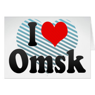 I Love Omsk, Russia Card