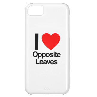 i love opposite leaves iPhone 5C case