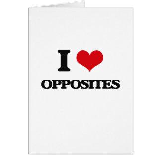 I Love Opposites Card
