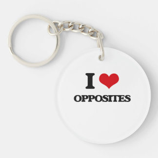 I Love Opposites Acrylic Keychains