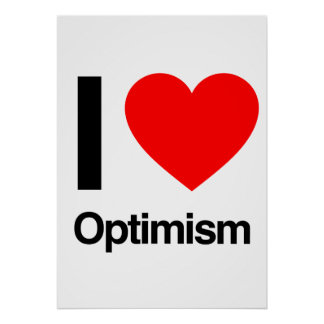 i love optimism print