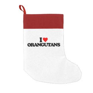 I LOVE ORANGUTANS SMALL CHRISTMAS STOCKING