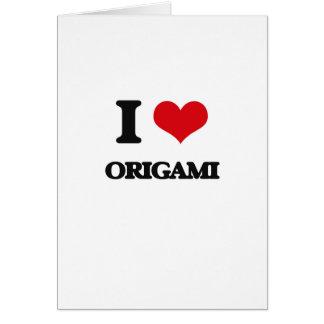 I Love Origami Cards