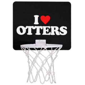 I LOVE OTTERS MINI BASKETBALL HOOP