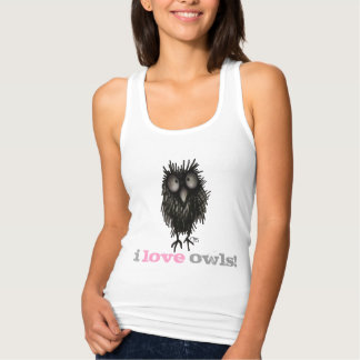 I Love Owls - Custom Woman's Funny Owl Saying Singlet