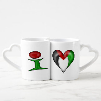 I love Palestine I Heart Palestine Coffee Mug Set