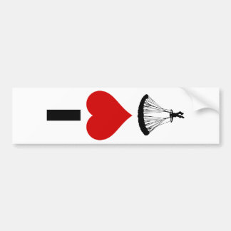 I Love Parachuting (Vertical) Bumper Sticker