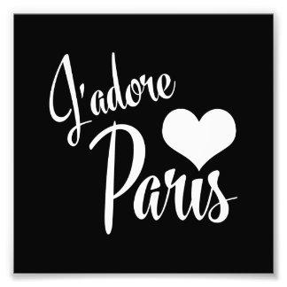 I Love Paris - J'adore Paris Vintage Style Photographic Print