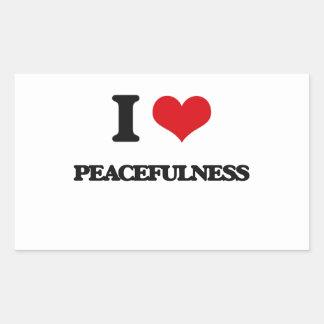 I Love Peacefulness Rectangular Stickers