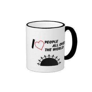 I love People Ringer Coffee Mug