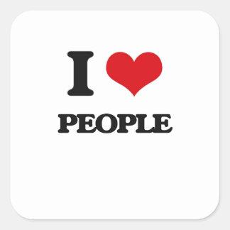 I love People Square Sticker