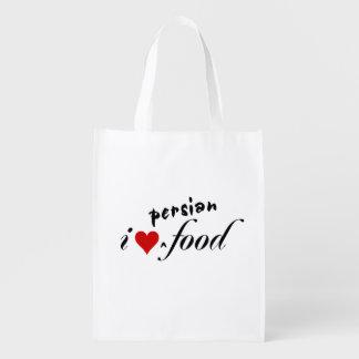 I love persian food reusable grocery bag