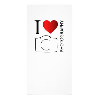 I love photography personalised photo card