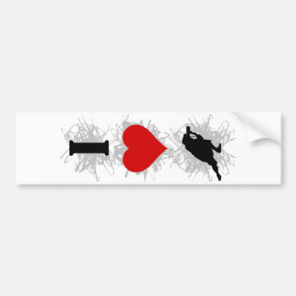 I Love Photography Urban Style (Vertical) Bumper Sticker