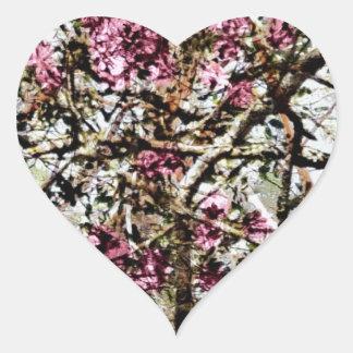 I Love Pink Camo Heart Sticker