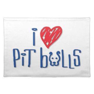 I Love Pit Bulls Placemat