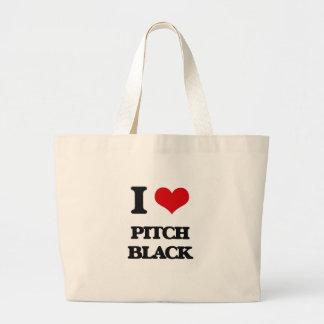 I Love Pitch Black Tote Bag