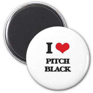 I Love Pitch Black Fridge Magnets