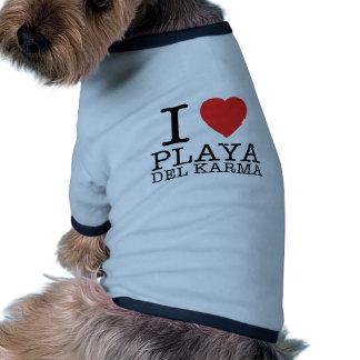 I love Playa del Karma Playera Perro Ropa De Perros