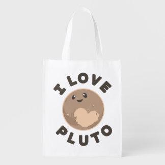 I Love Pluto Reusable Grocery Bag