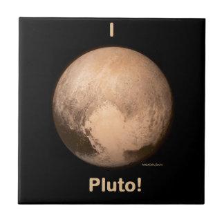 I love Pluto Small Square Tile
