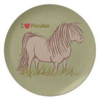 I Love Ponies Plate