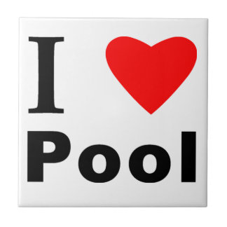 I Love Pool Small Square Tile